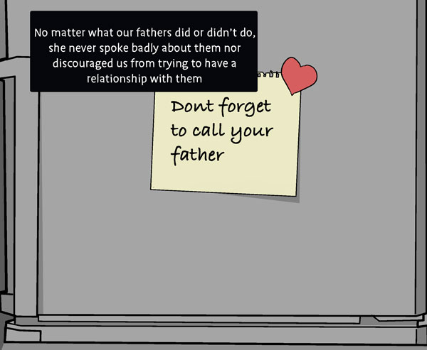 """Image of Note on refridgerator saying """"Call your father"""""""