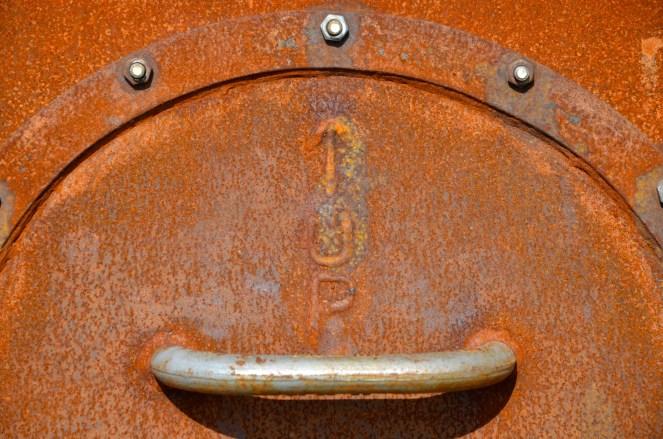 Rust detail on Alunatime clock