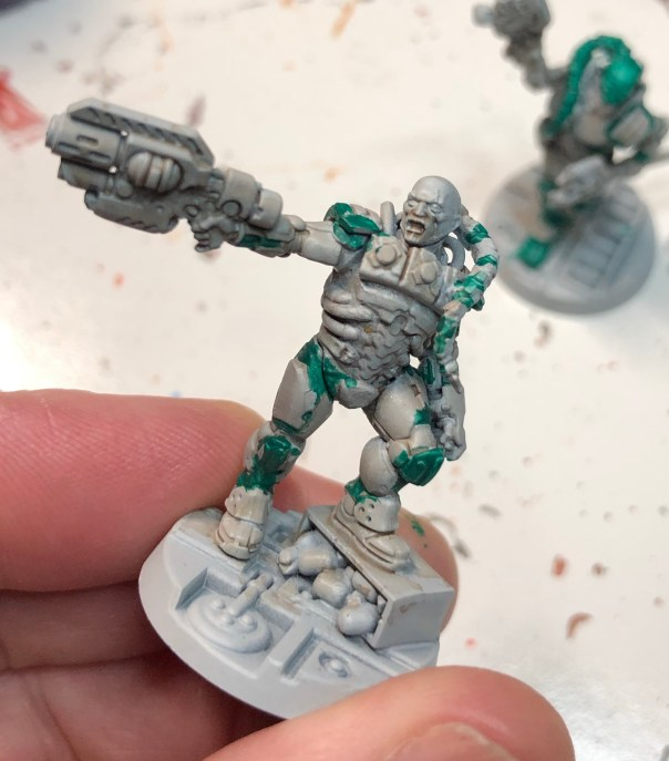 Van Saar Leader , primed, green added