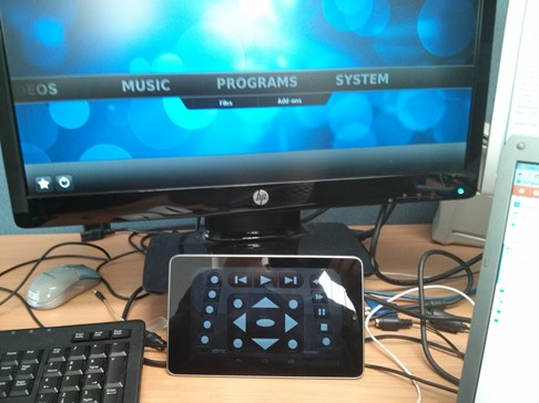 XBMC Remote on Android with a Raspberry Pi