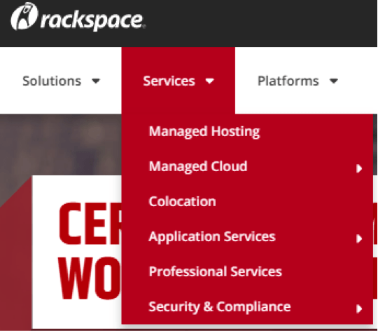 rackspace services