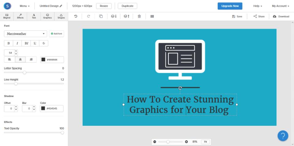 snappa editor screenshot
