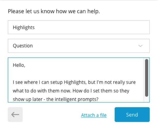chat box