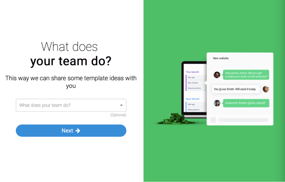 monday team tasks