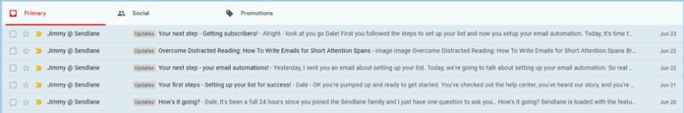 sendlane daily emails