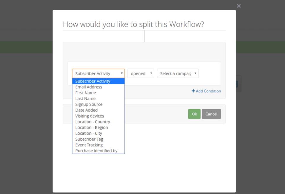 sendlane workflow split