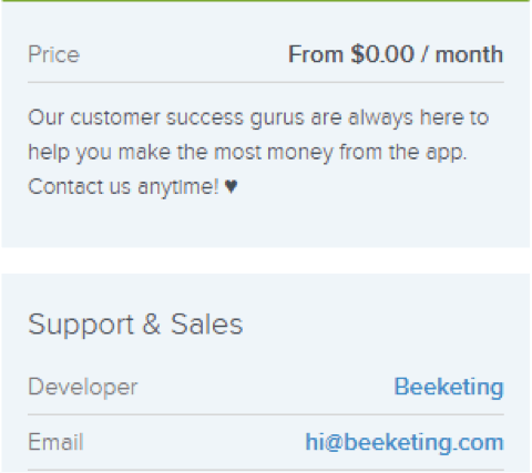 support sales pricing