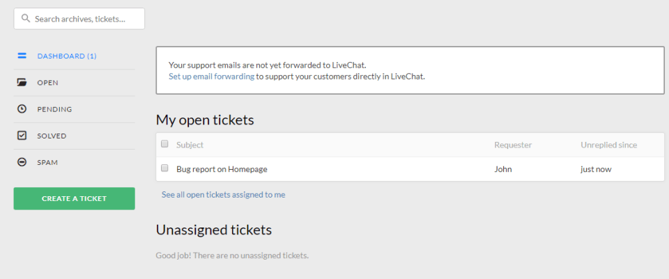 Livechat Ticketing System