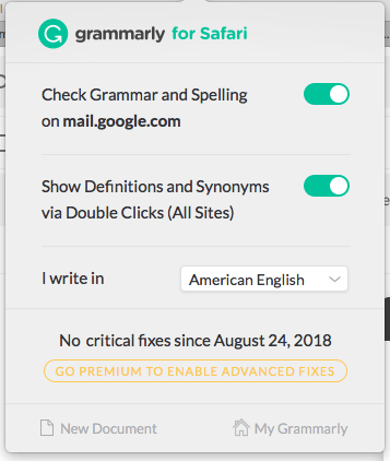 Grammarly Browser Extention
