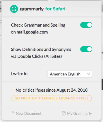 Grammarly Browser Extention