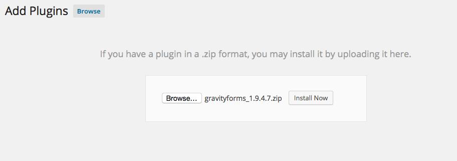 Gravity Forms Plugin
