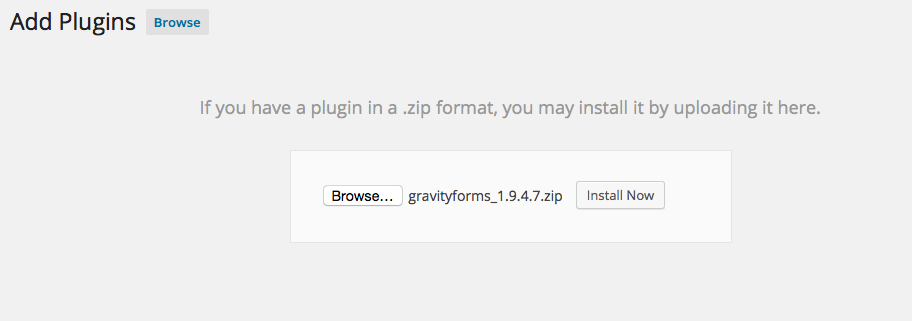 Gravity Forms Plugin