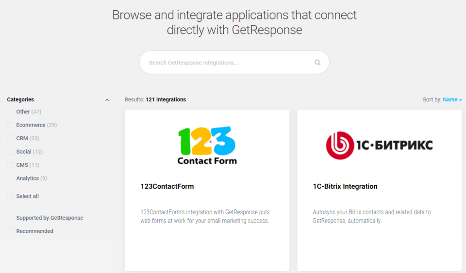 GetResponse-Integrations