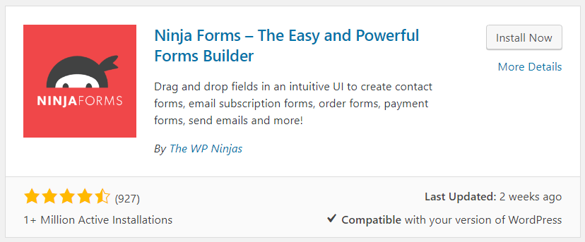 Ninja Forms Search