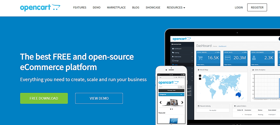 Opencart Home Page