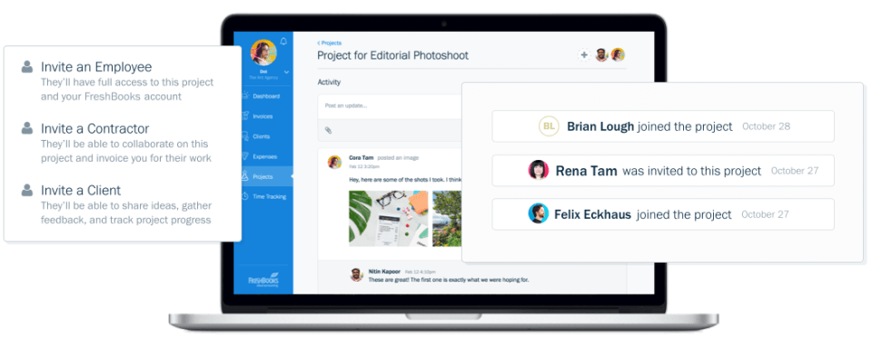 freshbooks project feature