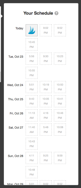 tailwind your schedule