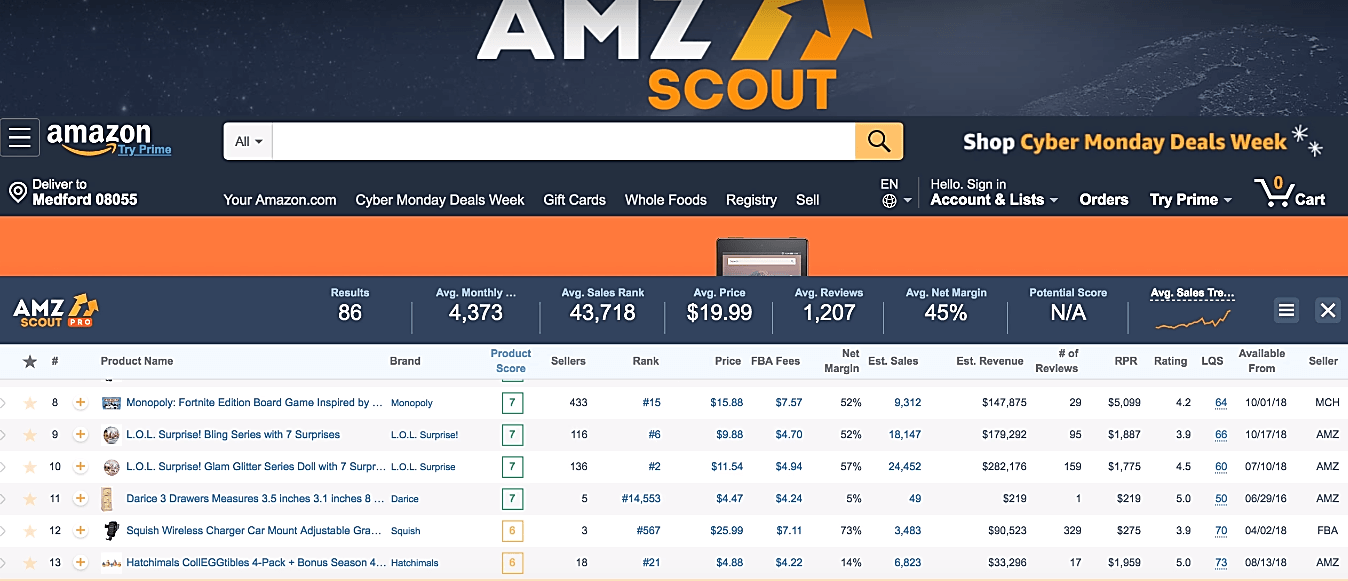 AMZ Scout screenshot