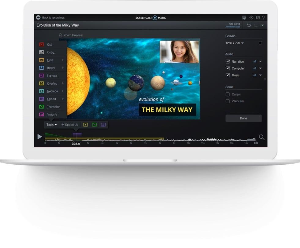 Movavi Screen Recorder Studio editor