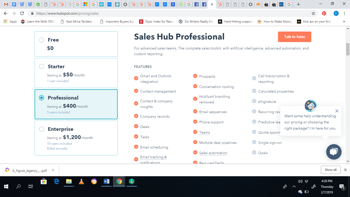 Sales Hub Professional