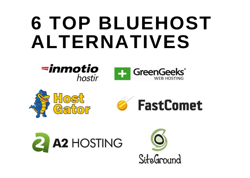 6 TOP BLUEHOST ALTERNATIVES