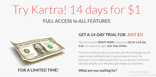 Kartra full access to features