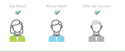 upwork rising talent badge