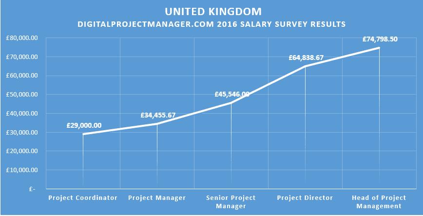 2016 #dpm digital project manager salary survey results United Kingdom UK