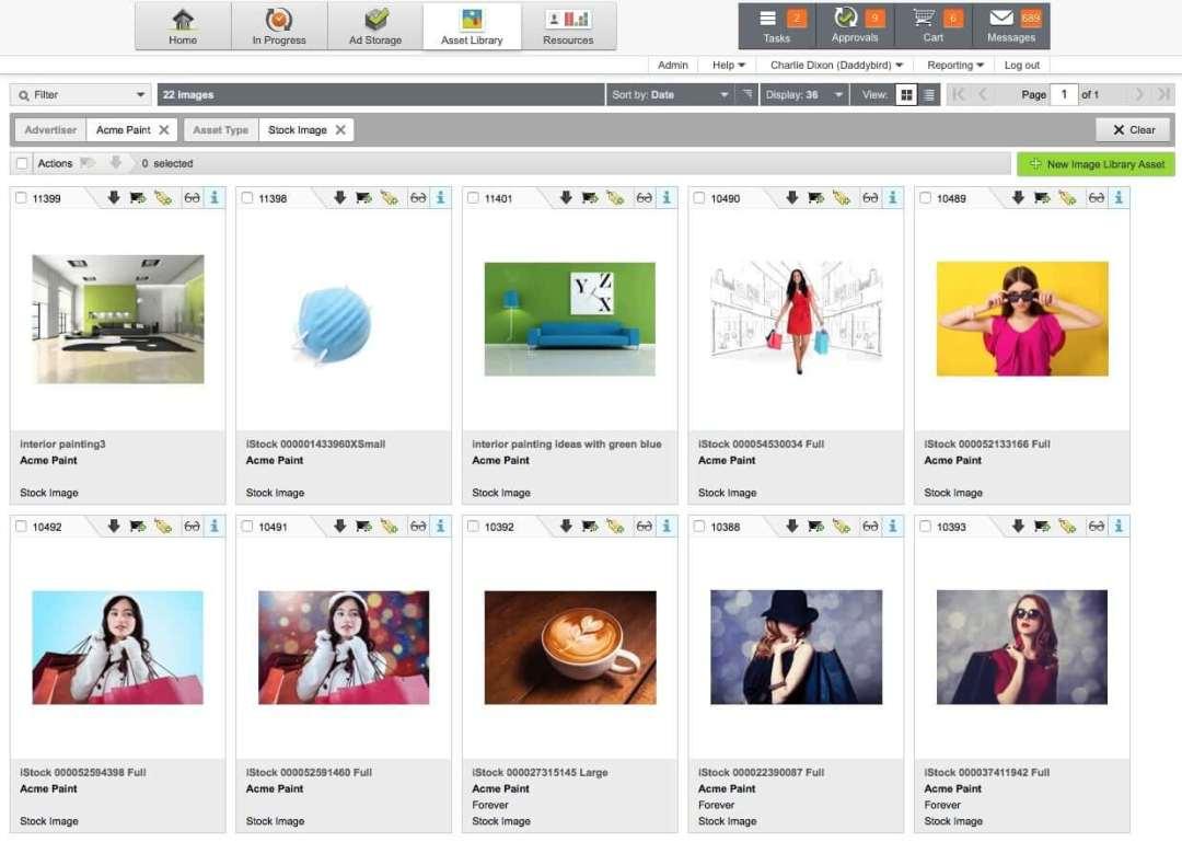 Admation asset library screenshot