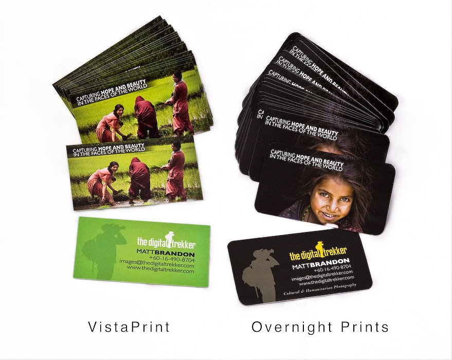 Vista print vs overnight prints the digital trekker blog photography vista print vs overnight prints i made a great investment just before leaving the usa i bought 500 business cards with a whole new look and my contact reheart Choice Image