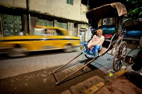 Kokata's pull rickshaws are being left behind.