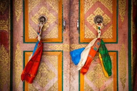 Monastery door at Nubra.