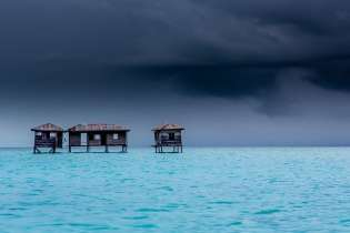 Bajau Laut hut, Sabah, Borneo Island
