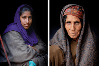 Two Bakarwal women.