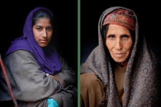 Two Bakarwal women.