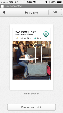 If you take a photo via the Instax Share app it will geotag the photo.