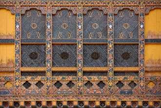 Punakha Dzong window detail