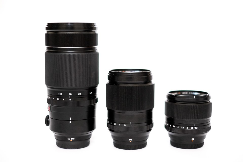 Fujifilm XF 50-140mm f/2.8, XF 90mm f/2 and the XF 56mm f/1.2