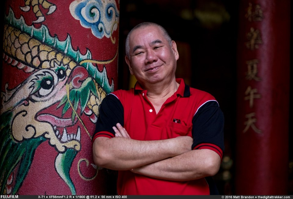 Meet Mr Lim. A retired factory worker who now volunteers at the temple to stay busy.