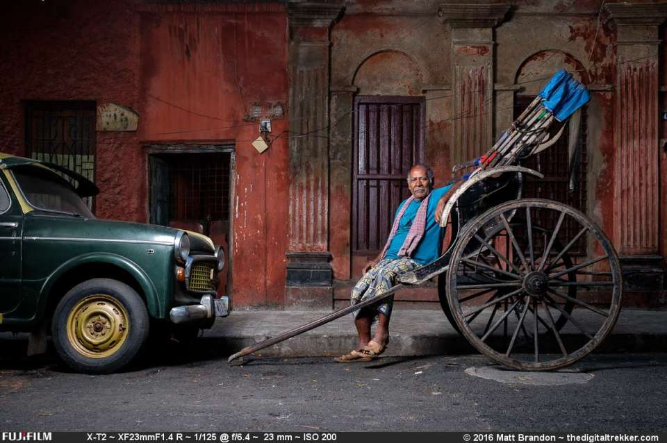 Subhas, a hand pull rickshaw walla.