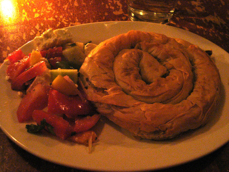 See, a spinach pie in a spiral.