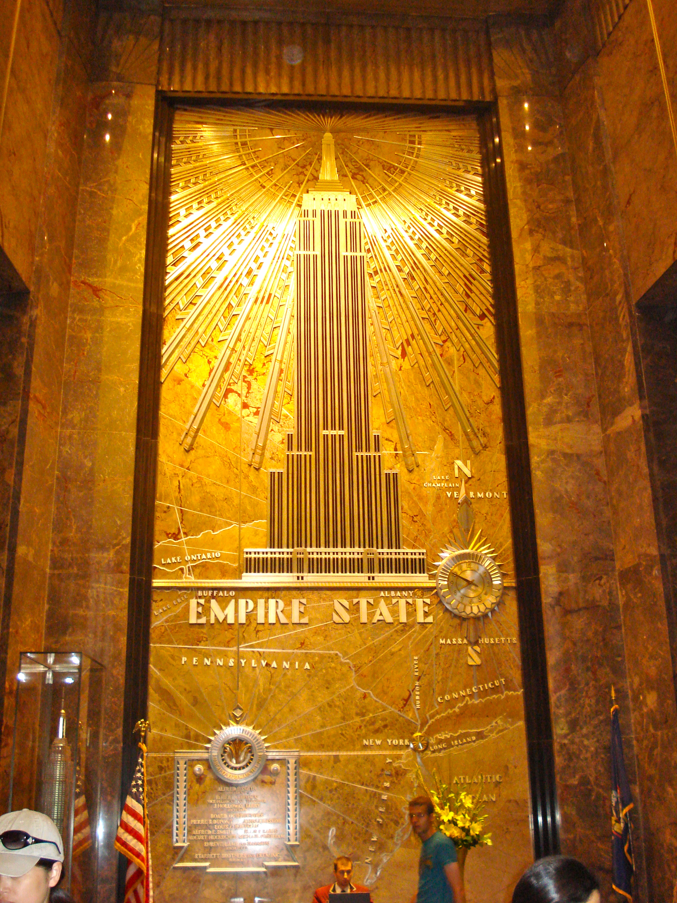 Inside the lobby of the Empire State Building