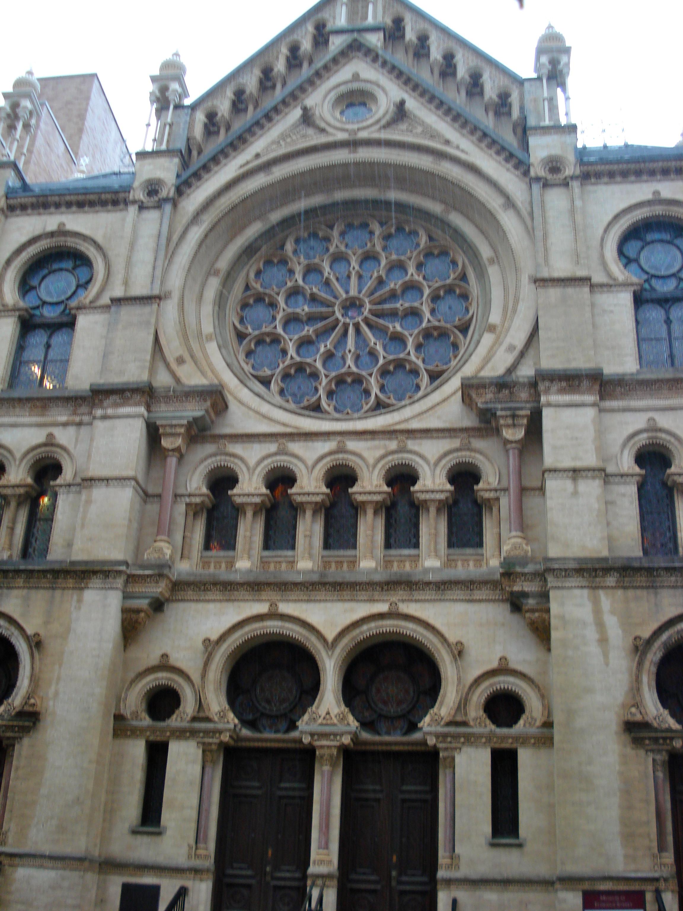 Outside of the Eldridge Street Synagogue,