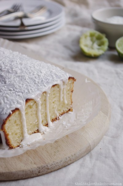 Lime & coconut yoghurt cake // The Dinner Bell