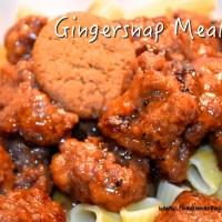 Gingersnap Meatballs