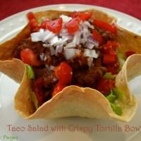 Taco Salad with Crispy Tortilla Bowl