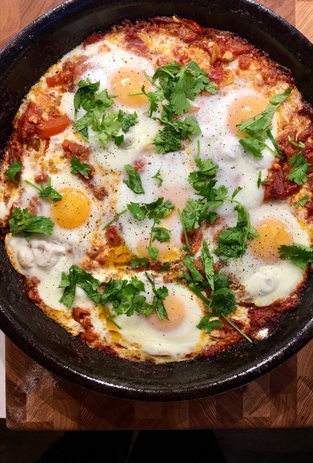 Tomato, Egg, and Feta Shakshuka