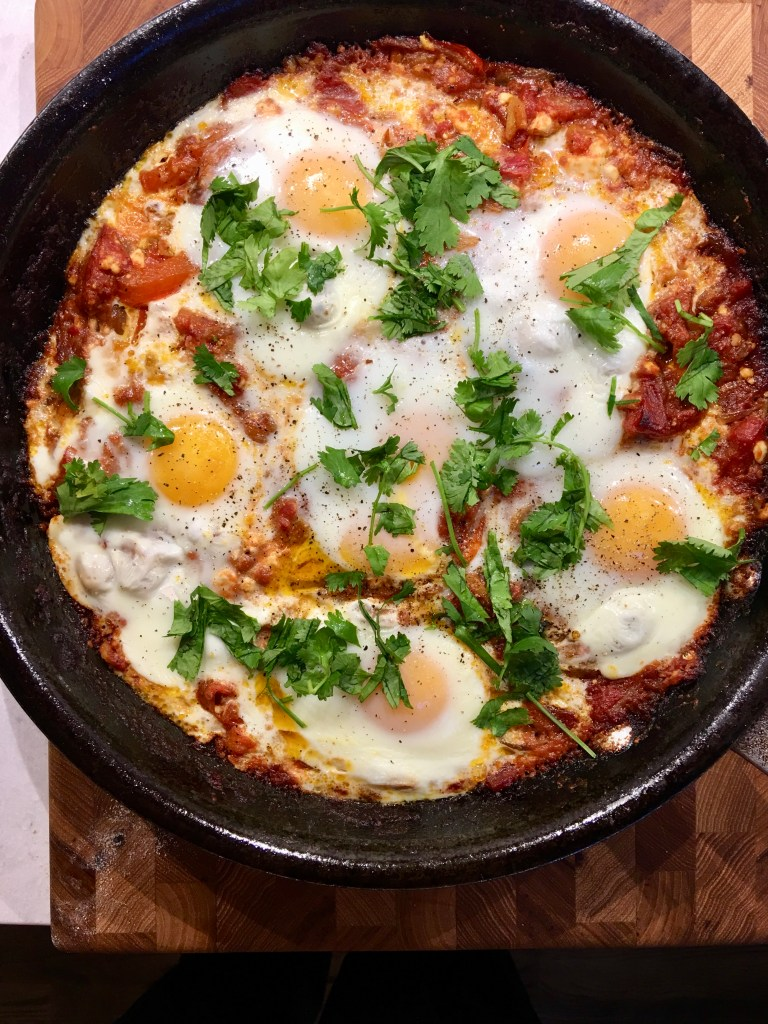 Tomato Shakshuka with Feta and Egg