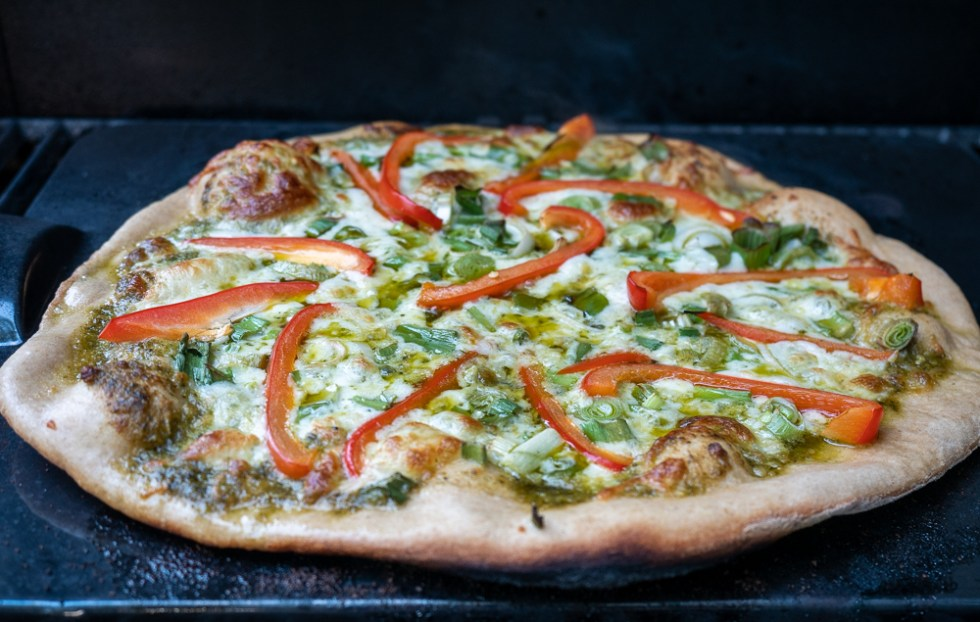 Grilled Pizza with SUmmer Vegetables