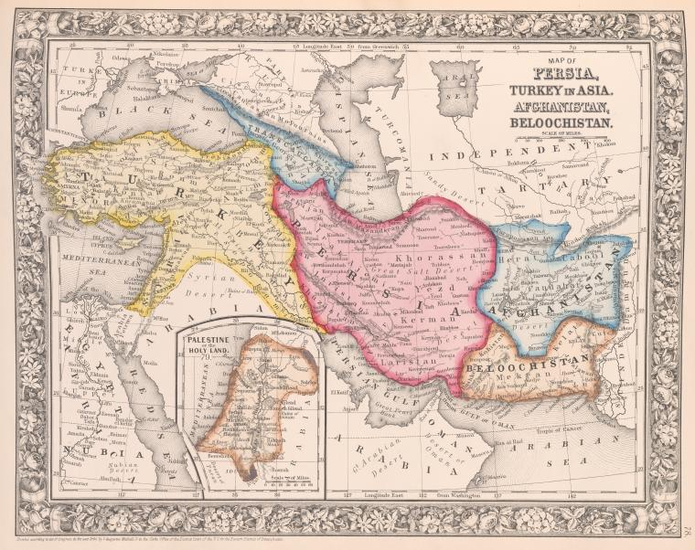 Map_of_Persia,_Turkey_in_Asia,_Afghanistan,_Beloochistan_;_Palestine,_or_the_Holy_Land_-inset-._(1863,_c1860)